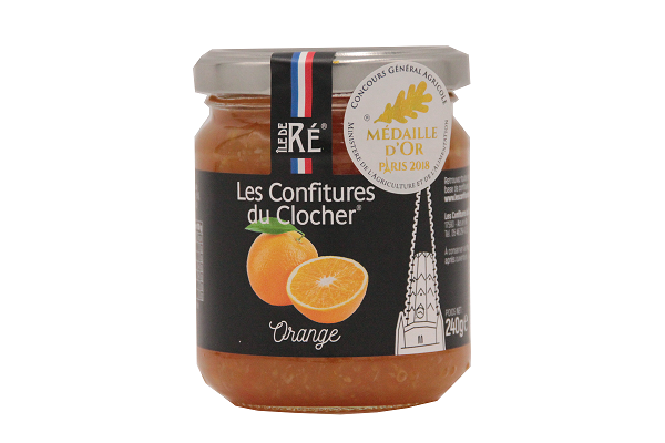 LES CONFITURES DU CLOCHER- Confiture d'orange 240g